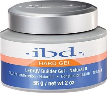 IBD LED/UV Builder Gel Natural II, 56 г. – бежево-розовый камуфлирующий гель для наращивания ногтей