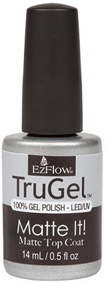 EzFlow TruGel Matte It! Top Coat, 14 мл. - топ для гель лака, матовый - фото 22123