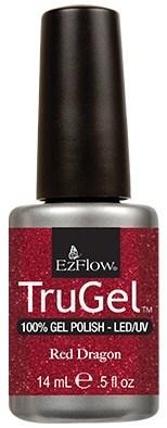 """EzFlow TruGel Red Dragon, 14 мл. - гелевый лак """"Красный дракон"""" - фото 22161"""