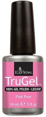 """EzFlow TruGel Pink Pout, 14 мл. - гелевый лак """"Розовые губки"""" - фото 22472"""
