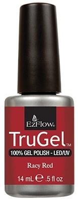 """EzFlow TruGel Racy Red, 14 мл. - гелевый лак """"Сочный красный"""" - фото 22483"""