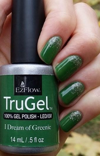 "EzFlow TruGel I Dream of Greenie, 14мл. - гелевый лак ""Травяной зеленый"" - фото 22551"