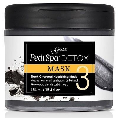 Gena Pedi Spa Detox Charcoal Mask, 473мл. - маска-детокс для педикюра, с древесным углём - фото 24583