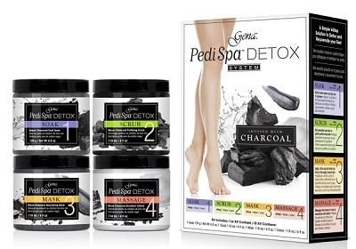 Gena Pedi Spa Detox Charcoal Kit - набор для спа-педикюра, с древесным углём - фото 24587
