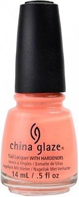 """China Glaze Sun Of A Peach, 14мл - лак для ногтей """"Персиковое солнце"""" - фото 25362"""