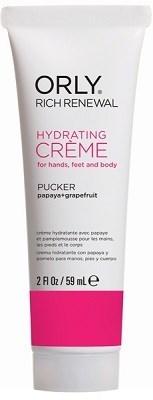 Крем восстанавливающий ORLY Rich Renewal Cream Pucker, 59 мл. для рук с запахом папайи и грейпфрута