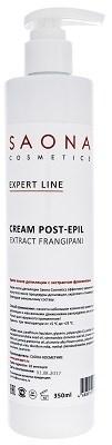 Saona Expert Line Post-Epil Cream Extract Frangipani, 350 мл.- Увлажняющий крем после депиляции с экстрактом франжипани Саона - фото 27943