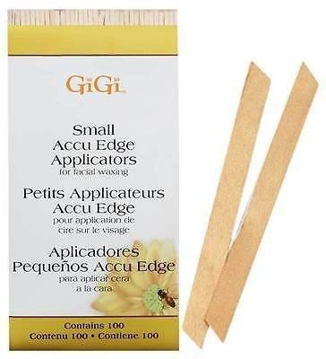 GiGi Accu Edge Spatula Small, 100 шт. - угловой деревянный шпатель маленький