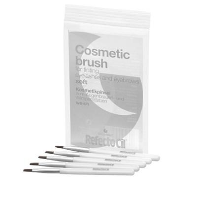 RefectoCil Cosmetic Brush Soft, 5шт. - Кисточка для окраски ресниц и бровей, мягкая - фото 30724