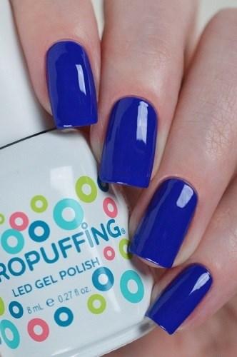 Aeropuffing LED Gel Polish №007, 8мл. - цветной гель лак #007 Аэропуффинг, синий - фото 32492