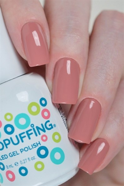 Aeropuffing LED Gel Polish №014, 8мл. - цветной гель лак #014 Аэропуффинг, коричнево-розовый - фото 32506