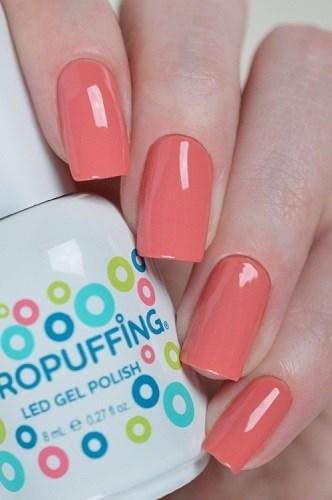 Aeropuffing LED Gel Polish №015, 8мл. - цветной гель лак #015 Аэропуффинг, кораллово-розовый - фото 32508