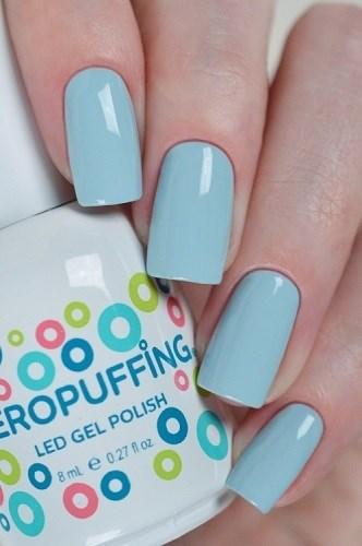 Aeropuffing LED Gel Polish №017, 8мл. - цветной гель лак #017 Аэропуффинг, голубой - фото 32512