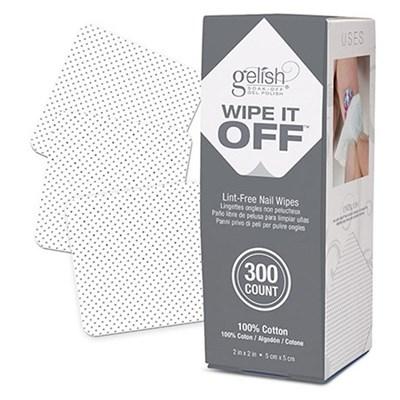 01925 GELISH Wipe It Off, 300 шт. - безворсовые салфетки для маникюра
