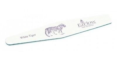 """Пилка для искусственных ногтей EzFlow White Tiger Pro File 100/100 """"Белый тигр"""""""
