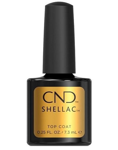 Верхнее покрытие CND Shellac UV Top Coat, 7,3 мл. для гель лака