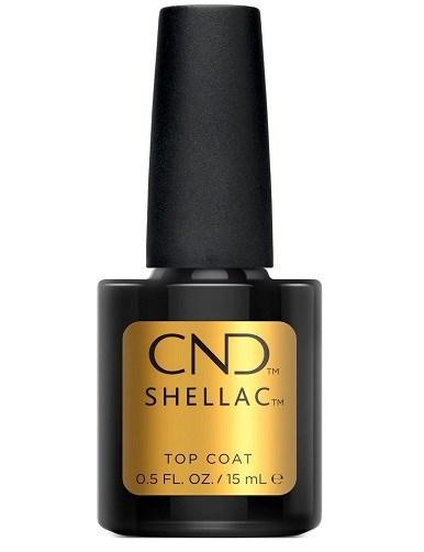 Верхнее покрытие CND Shellac UV Top Coat, 15 мл. для гель лака