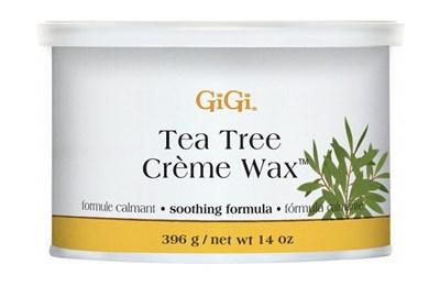 Крем воск для бровей GiGi Tea Tree Creme Wax, 396 гр. эпиляции лица и тела, с маслом чайного дерева