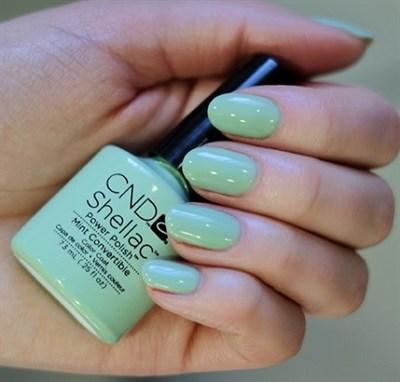 "CND Shellac Mint Convertible, 7,3 мл. - гель лак Шеллак ""Валюта"" - фото 4776"
