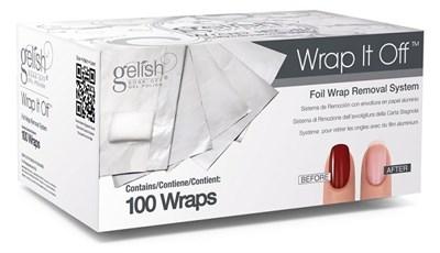 GELISH Wrap It Off, 100шт. - фольга со спонжем для удаления гель лака - фото 6659