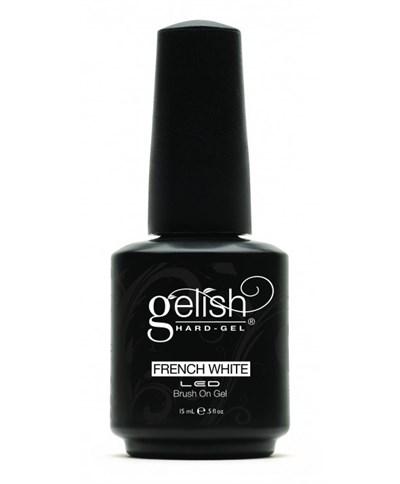 GELISH Hard Gel - French White, 15 мл. - ярко-белая краска для французского маникюра - фото 7372