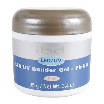 IBD LED/UV Builder Gel Pink II, 95 г. – холодный розовый камуфлирующий гель для наращивания ногтей
