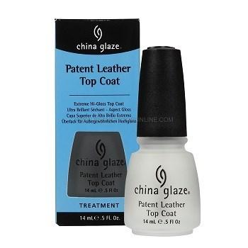 Верхнее покрытие China Glaze Patent Leather Top Coat, 14 мл. для лака с супер-блеском