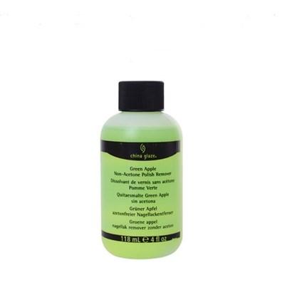 Жидкость для снятия лака China Glaze Polish Remover Green Apple, 118 мл. с ароматом яблок