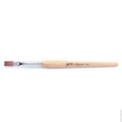 Ezflow Gel It 907 Sguare Brush - кисть для геля №907 - фото 8871