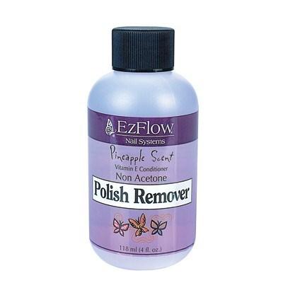 EzFlow Pineapple Scent Polish Remover, 118мл. - жидкость для снятия лака, отдушка ананас - фото 8926