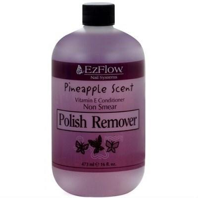 EzFlow Pineapple Scent Polish Remover, 473мл. - жидкость для снятия лака,отдушка ананас - фото 8930