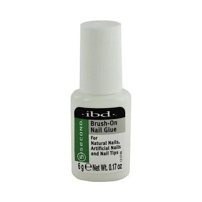IBD 5sec Brush-On Nail Glue, 6гр - клей с кисточкой для типс - фото 9028