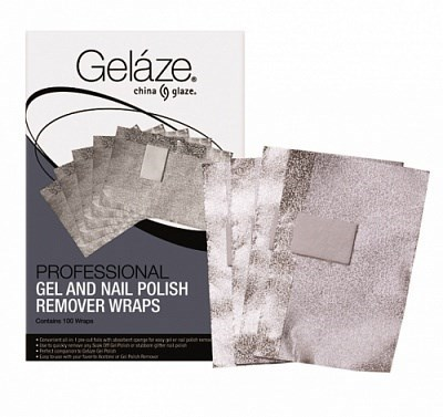 Gelaze Gel & Nail Polish Remover Wraps, 100 шт. - фольга для удаления гель лака - фото 9243
