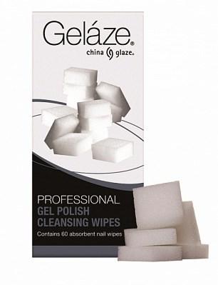 Безволоконные спонжи Gelaze Gel Polish Cleansing Wipes, 60 шт. - фото 9245