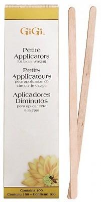 GiGi Spatula Petite, 100шт - тонкий шпатель деревянный закругленный, для бровей