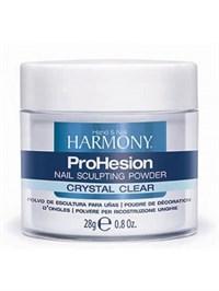 Прозрачная акриловая пудра HARMONY ProHesion Crystal Clear Powder, 28 гр. для наращивания ногтей