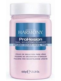 Камуфлирующая акриловая пудра HARMONY Studio Cover Cool Pink Powder, 660 гр. холодная розовая для наращивания