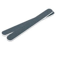 Пилка для ногтей IBD Black Padded File 100/180 чёрная с мягкой прокладкой
