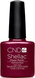 "CND Shellac Crimson Sash, 7,3 мл. - гель лак Шеллак ""Тёмно-красный пояс"""