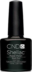 """CND Shellac Black Pool, 7,3 мл. - гель лак Шеллак """"Чёрный Бассейн"""""""