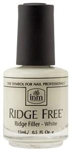 INM Ridge Free White, 15 мл. - база выравнивающая под лак белая