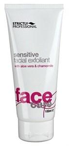 Strictly Sensitive Facial Exfoliant with Aloe Vera & Chamomile, 100ml.- Скраб эксфолиант для чувствительной кожи лица