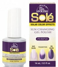 Гель-лак хамелеон IBD Just Gel Polish Solé Purple, 14 мл. фиолетовый, меняющий цвет при солнечном свете