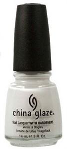 "China Glaze White on White, 14мл.- лак для ногтей  ""Белый на белом"""