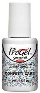 "SuperNail ProGel Confetti Cake, 14 мл. - гелевый лак ""Торт из конфетти"""