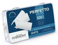 HARMONY White Tips, 500шт.- типсы белые для наращивания ногтей
