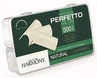 HARMONY Natural Tips, 500шт.- типсы натуральные для наращивания ногтей