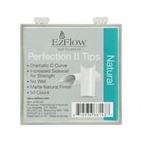 EzFlow Perfection II Natural Nail Tips #2, 50 шт. - натуральные типсы без контактной зоны №2