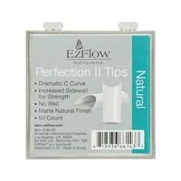 EzFlow Perfection II Natural Nail Tips #0, 50 шт. - натуральные типсы без контактной зоны №0
