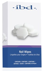 IBD Nail Wipes, 80 шт. - поролоновые безворсовые спонжи